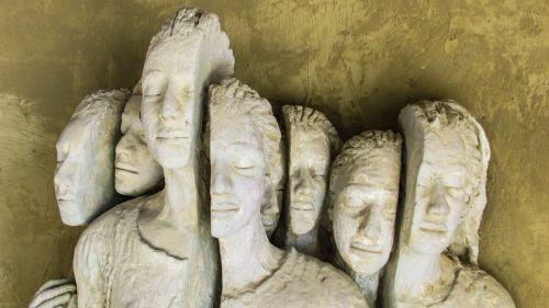 refugees sculpture church