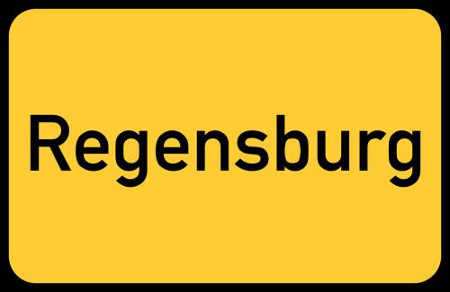 regensburg bavaria town sign