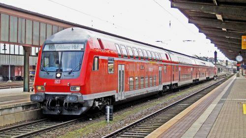 regional-express doppelstockzug schubzug