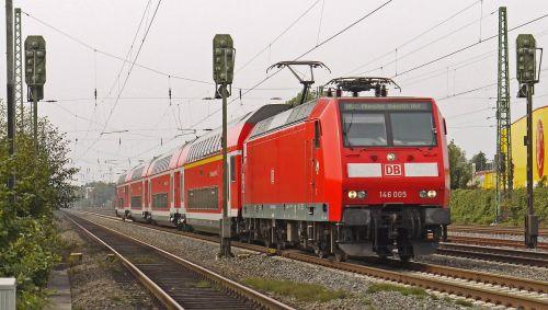 regional train double-deck cars electric locomotive