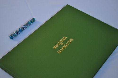 register wedding book