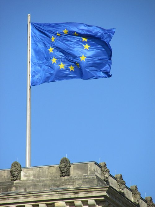 reichstag  europe  flag