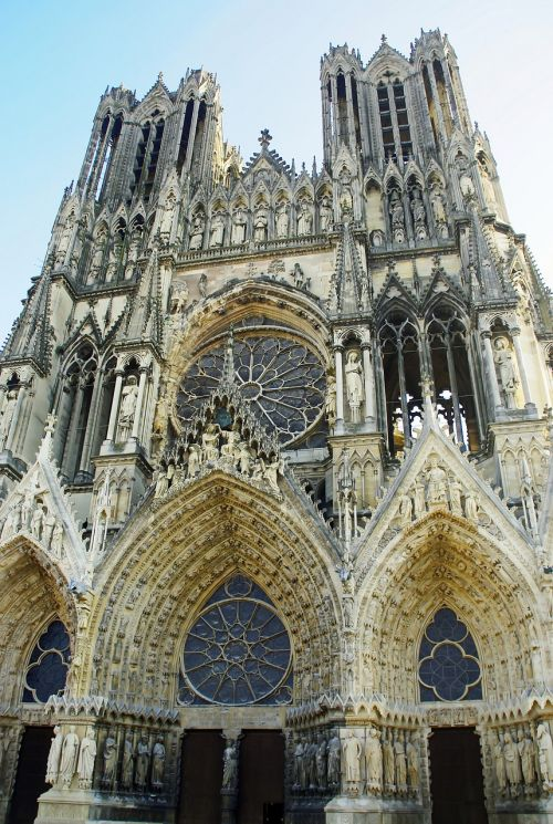 reims cathedral portals