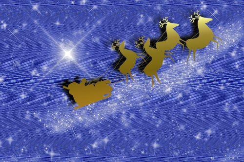 reindeer santa claus slide
