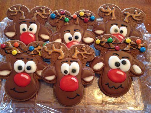 reindeer sugar cookie decorated