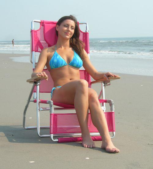 Relaxing In Ostrich Beach Chair