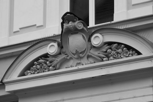 relief front coat of arms