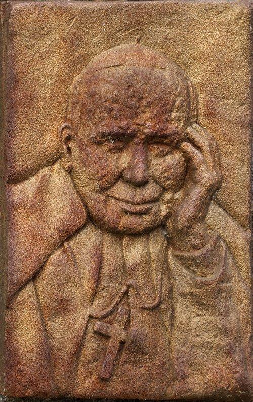 relief  tile  portrait