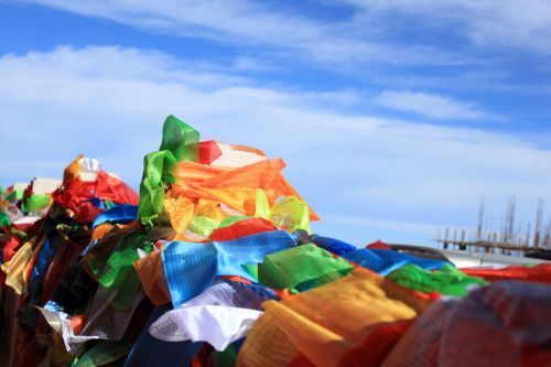 religion prayer flags colored flag