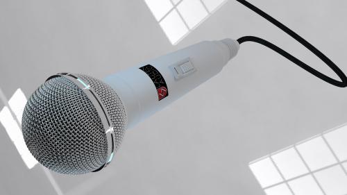 render microphone sound