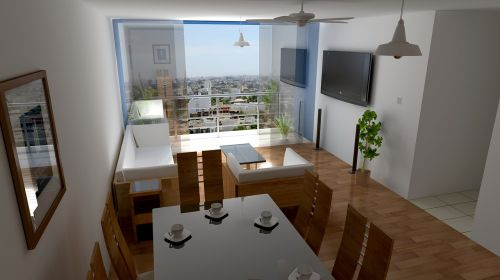render architecture house
