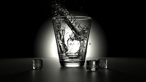 rendering glass water