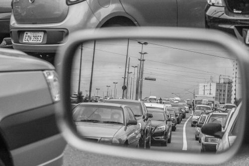 rearview traffic rent a car