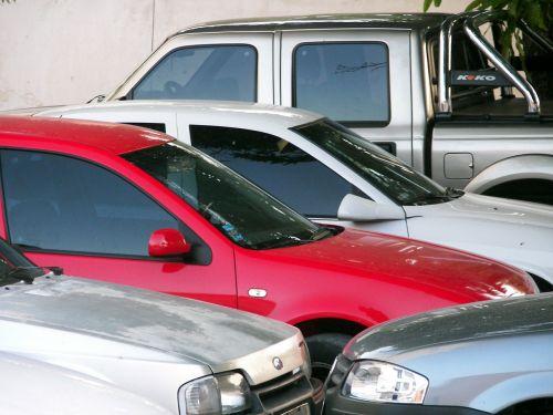rent a car automobiles parking lot