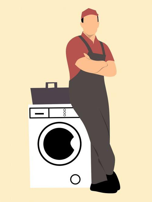 repair man appliance dungarees