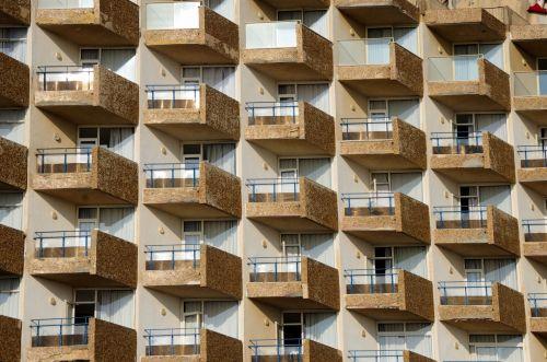 Repeated Apartment Balconies