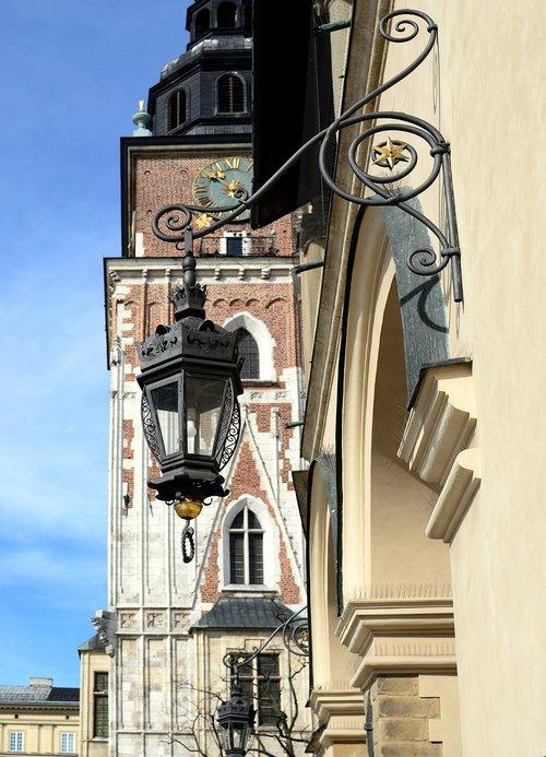 replacement lamp  kraków  street lamp
