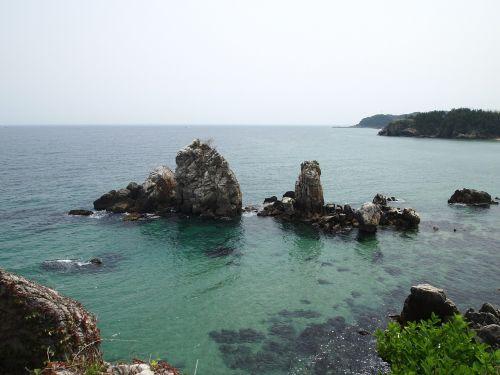 republic of korea sea candlestick rock