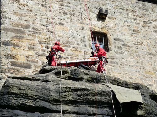 rescue climb elbsandsteingebierge