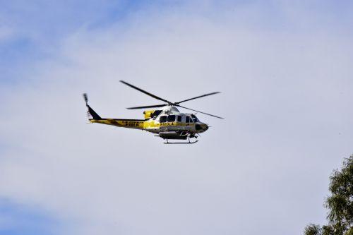 Rescue Chopper Overhead