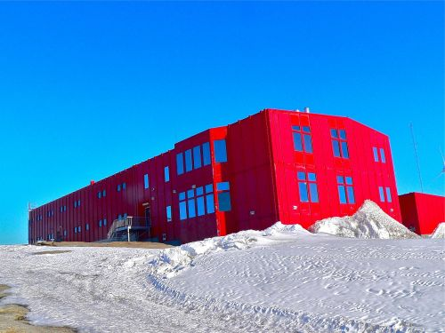 research station red building