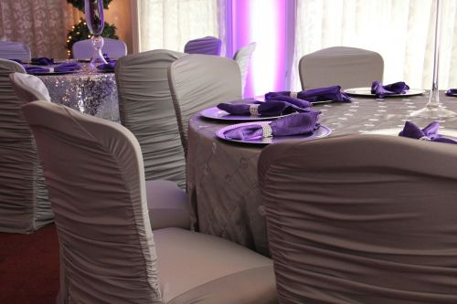 reserved table wedding
