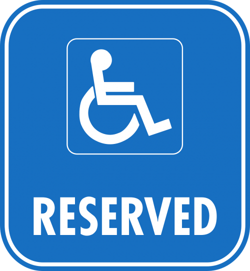 reserved sign car