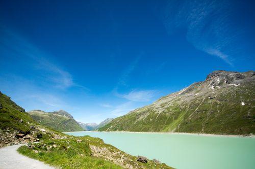 reservoir mountains alpine