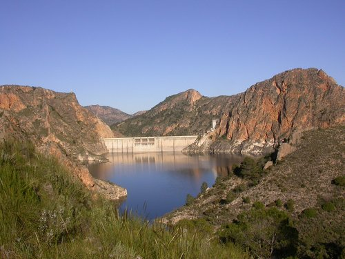 reservoir  mountain  landscape