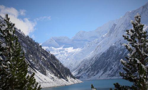 reservoir schlegeis zillertal