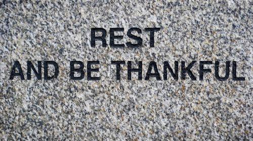 rest thankful peace