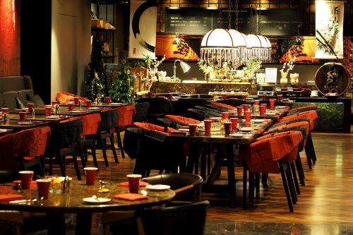 restaurant eating bowling