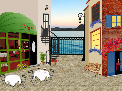 restaurant house terrace