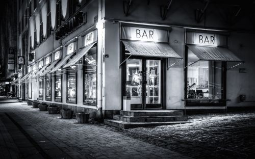 restaurant coffee shop night scene