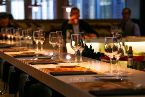 restaurant nutrition glass