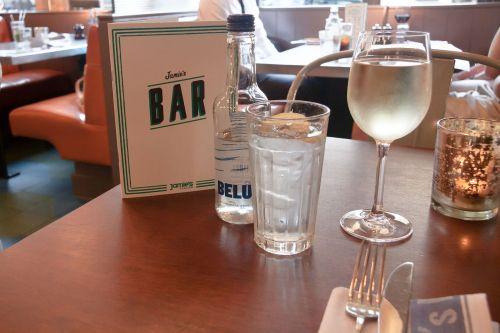 restaurant beverage list water glass