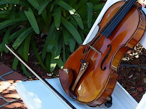 Resting Violin
