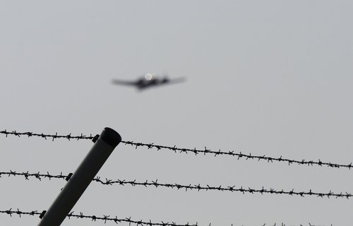 restricted zone  barbed wire  flyer