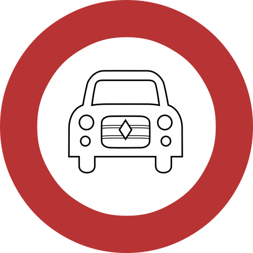 restriction prohibition road sign