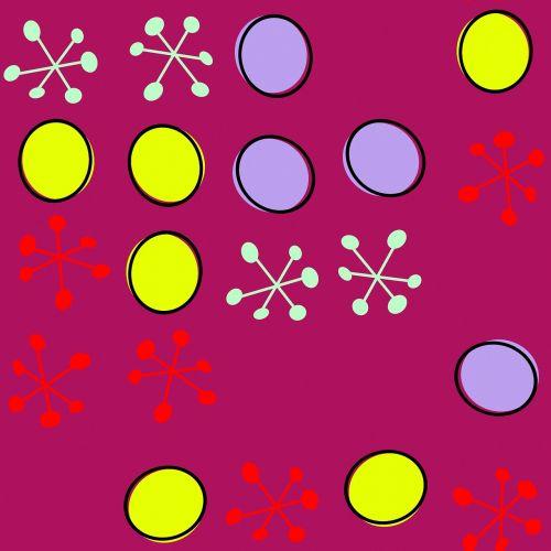 retro pattern colourful