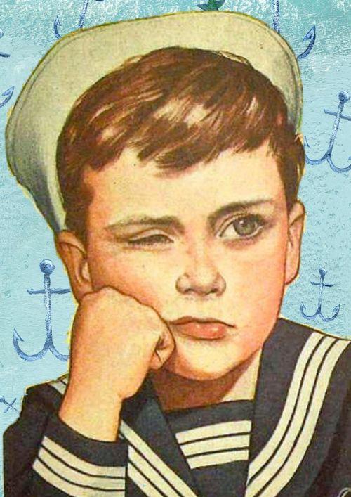 retro boy sailor