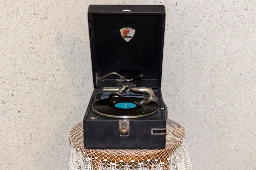 retro old turntable