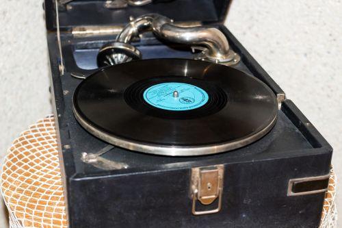 retro old turntable