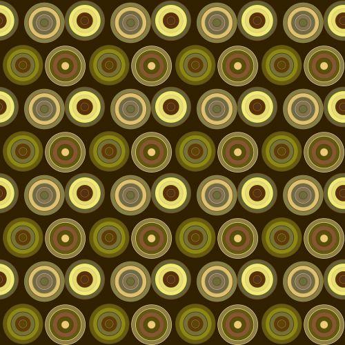 retro circles abstract