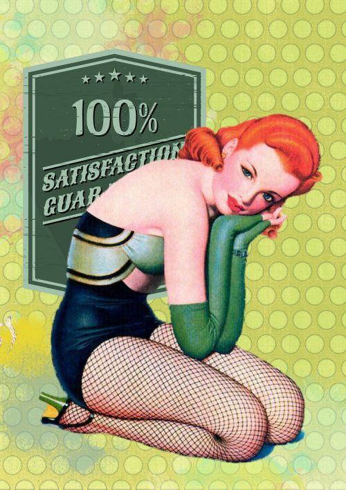 retro woman pin up