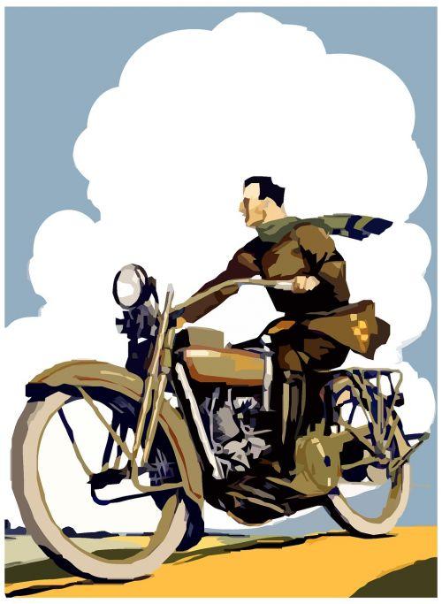 retro motorcycle road