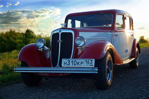 retro car machine