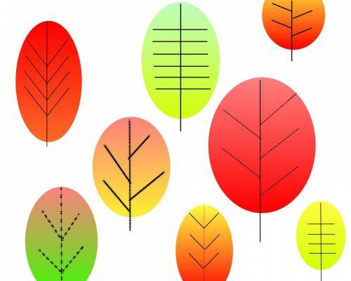 Retro Autumn Leaves