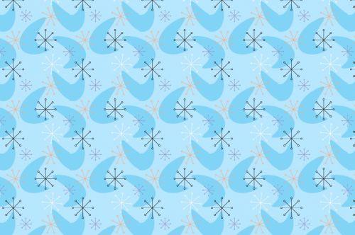 Retro Blue Pattern Background