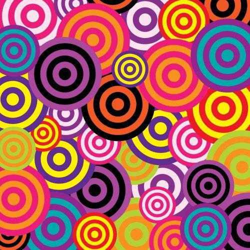Retro Circles 60s Colorful